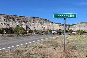 Cannonville, Utah - Looking northwest along Highway 12