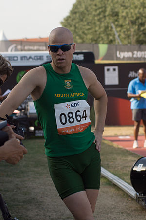 Hilton Langenhoven - Hilton Langenhoven at the 2013 IPC Athletics World Championships.