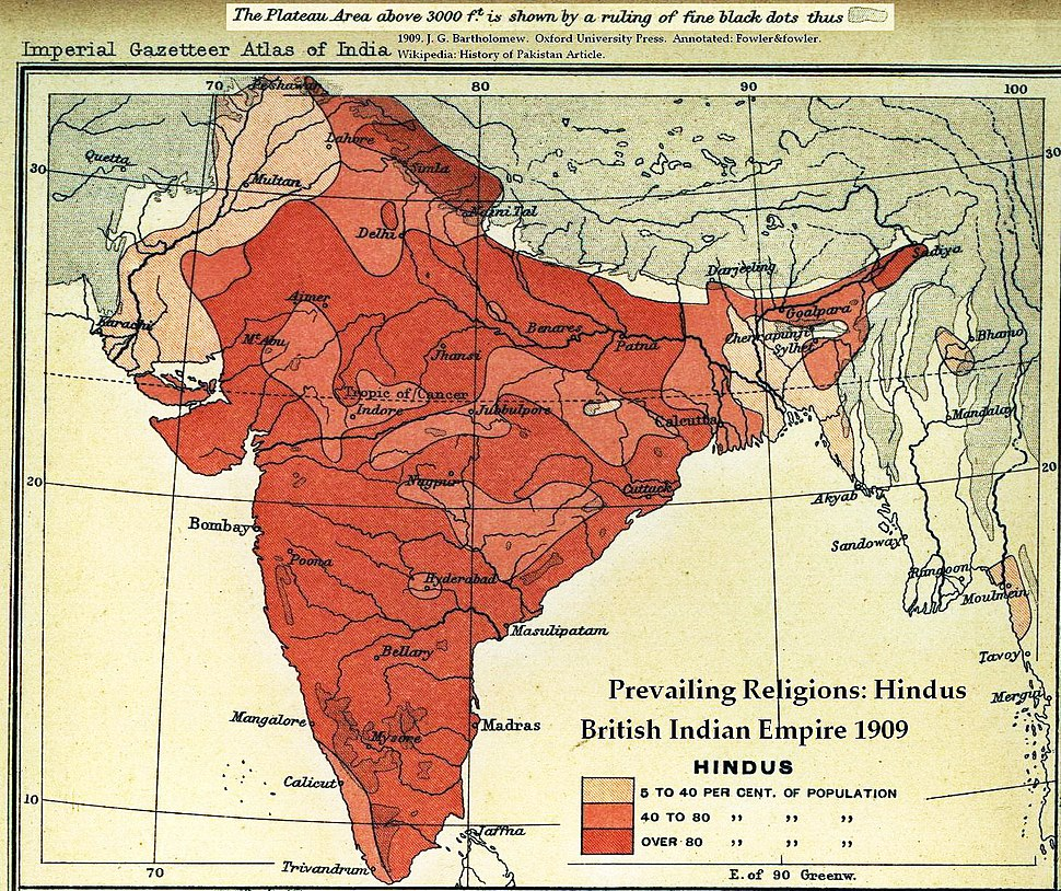 Hindu percent 1909