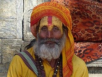 Sadhu - Hindu sadhu with painted face