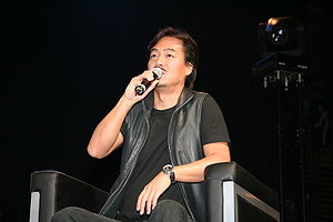 Recurring elements in the Final Fantasy series - Image: Hironobu Sakaguchi 20070706 Japan Expo 1