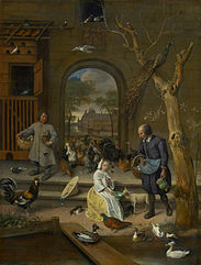 Portrait of Bernardina Margriet van Raesfelt, also known as 'The Chicken Yard'