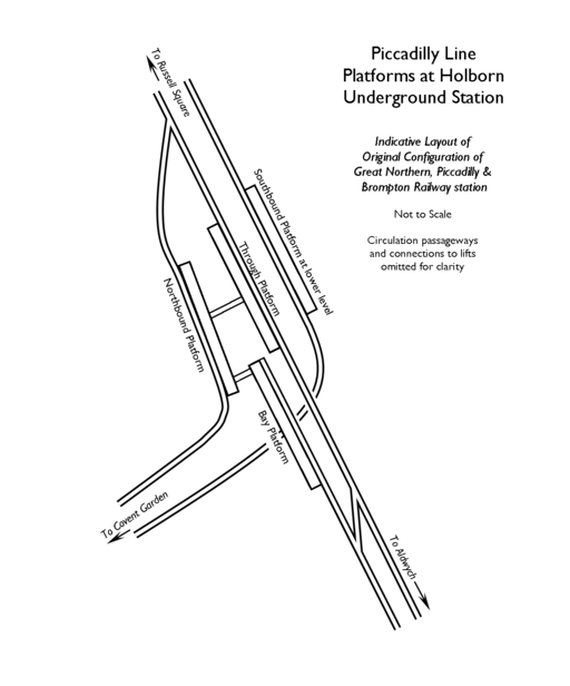 Holborn Station Original Layout
