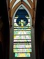 Holy Spirit Catholic Church, painted glass window by Endre Simon, Hévíz, 2016 Hungary.jpg