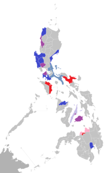 List of vice presidents of the Philippines by place of