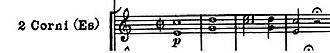 Symphony No. 103 (Haydn) - Image: Horn fifths haydn