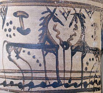 Dorian invasion - Geometric pottery, Dorian Argos.