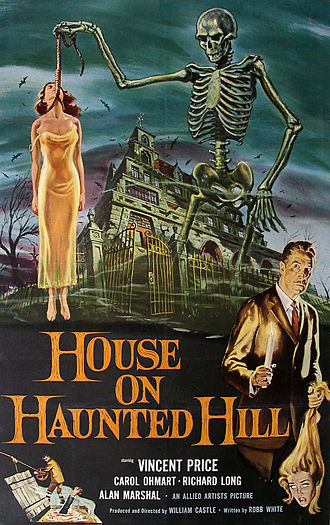 House on Haunted Hill - Theatrical release poster by Reynold Brown