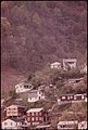 Houses Perched on a Hillside in Logan, West Virginia. Many Homes Are Built on Hilly Ground Because Flat Land in the Valleys Is at a Premium...04-1974 (3906425505).jpg