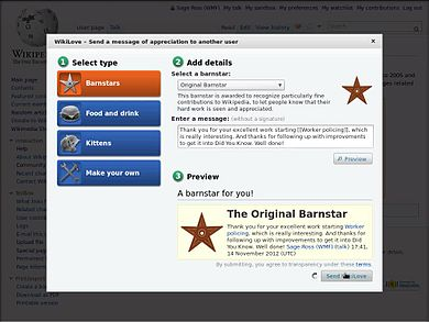 File:How to give a barnstar using WikiLove.ogv