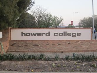 Howard College - Howard College entrance sign