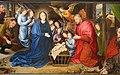 Hugo van der Goes, adorazione dei pastori tra due profeti, 1480 ca. 07.JPG