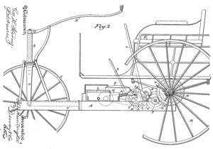 "Buckeye gasoline buggy - Huntington ""vehicle"" 1889 invention"