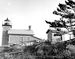 Huron Island Light - An earlier image of Huron Island Light