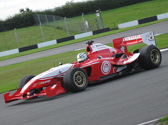 Olympiacos CFP (Superleague Formula team) - Davide Rigon in the Olympiacos car