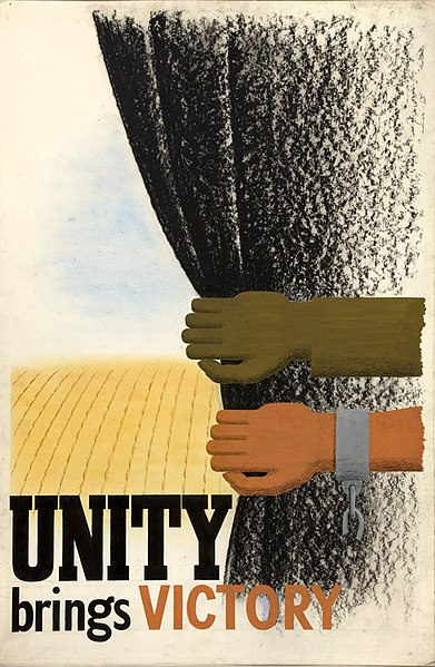File:INF3-303 Unity of Strength Unity brings victory (arm and hand, pulling aside dark curtain).jpg