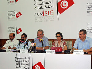 Independent High Authority for Elections - ISIE Press Conference led by then-president Kamel Jendoubi on 16 August 2011