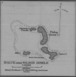 Ifalik - Old Map of Ifalik