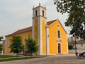 Loures - The historical Church of Loures, in the centre of urban centre of the town of Loures