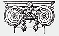 Illustration of a Baroque Ionic pilaster capital. This image comes from the 6th edition of A Handbook of Ornament (1898), or earlier.jpg