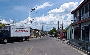 Ilopango - Street in Ilopango