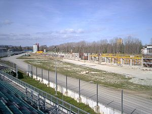Autodromo Enzo e Dino Ferrari - Imola during reconstruction, March 2007.