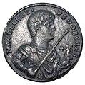 Impero, decenzio, medaglione in bronzo (roma), 350-353.JPG