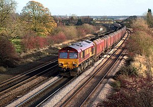 South Humberside Main Line - Imported Coal transported from Immingham passes through Melton Ross
