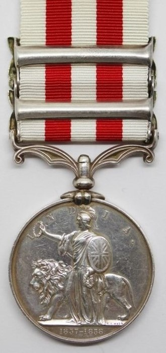 Indian Mutiny Medal - Image: Indian Mutiny Medal (Reverse)