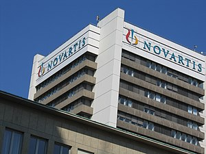 Pharmaceutical industry in Switzerland - One of the many buildings of Novartis in Basel.