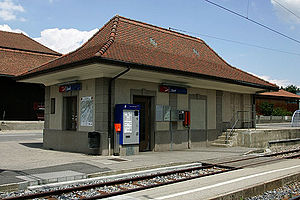 Ins, Switzerland - Ins village train station