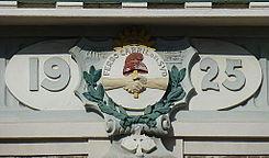 Insignia del Ferrocarril del Sud - Estación Banfield, Buenos Aires.jpg