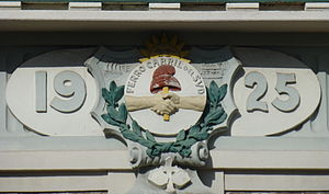 Buenos Aires Great Southern Railway - Railway crest engraved on Banfield station.