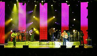 Intocable American Tejano and Norteño band from Zapata, Texas