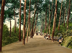 Bournemouth - Photochrom of Invalids' Walk, 1890s