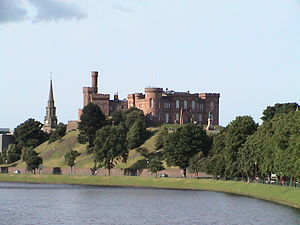 Alexander of Islay, Earl of Ross - Inverness Castle, the location of Alexander's first captivity. Although the modern castle is not medieval, the site is.