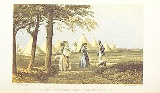 Ireland Island, Bermuda - Ireland Isle, 1856, summer sleeping tents