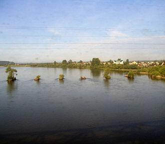 Irkut River - Image: Irkut river from train