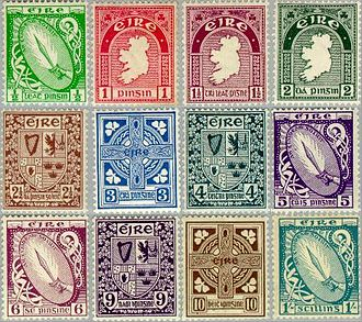 Postage stamps of Ireland - 1922–23 First Definitive Series (low values)
