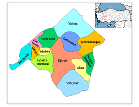 Districts de la province de Isparta
