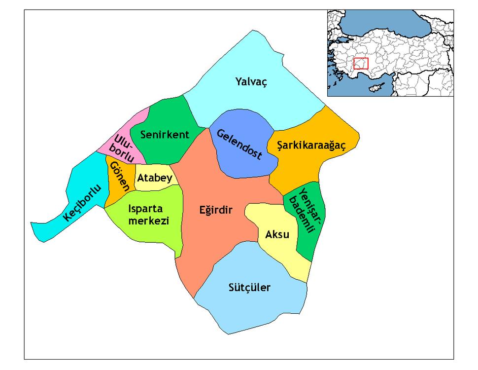 Isparta districts
