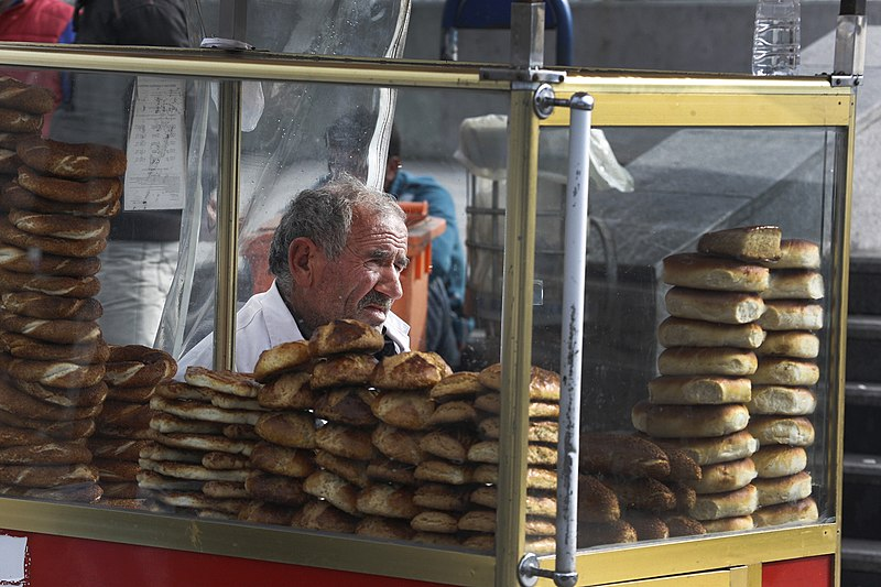 Simit. From Best Street Foods in Istanbul, Turkey