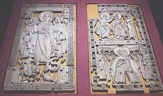 Ivory diptych from Genoels-Elderen