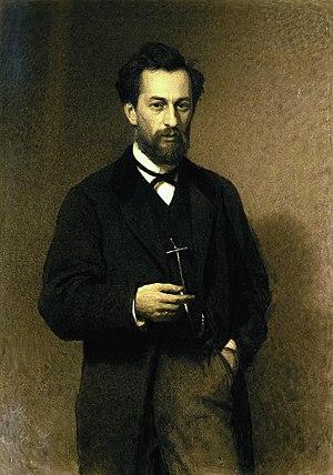 Mikhail Clodt von Jürgensburg - Mikhail Clodt, 1871. Portrait by Ivan Kramskoi