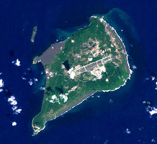 Iwo Jima Island of the Japanese Volcano Islands chain south of the Ogasawara Islands