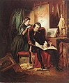 József Borsos- The Dissatisfied Painter (Crisis in the Life of a Painter), 1852.jpg