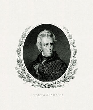 BEP engraved portrait of Jackson as President.