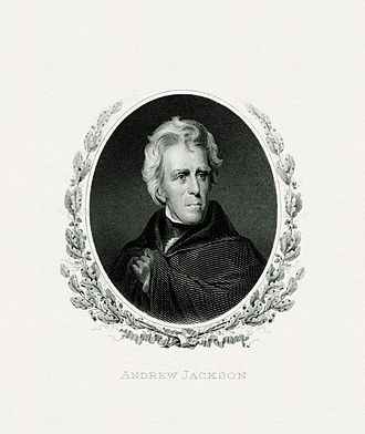 First inauguration of Andrew Jackson - Image: JACKSON, Andrew President (BEP engraved portrait)