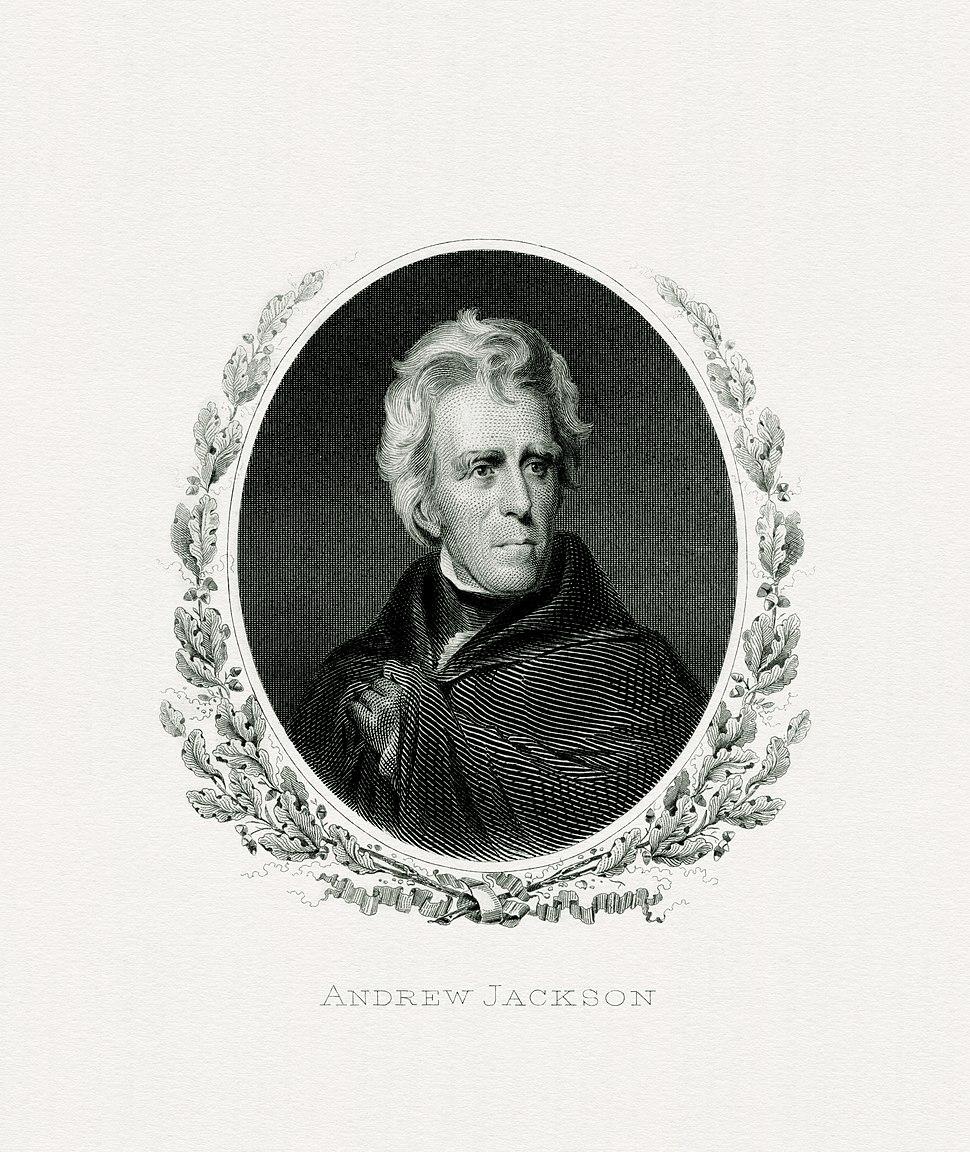 JACKSON, Andrew-President (BEP engraved portrait)