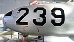 JASDF T-33A(71-5239) nose section left side view at Hamamatsu Air Base Publication Center November 24, 2014.jpg